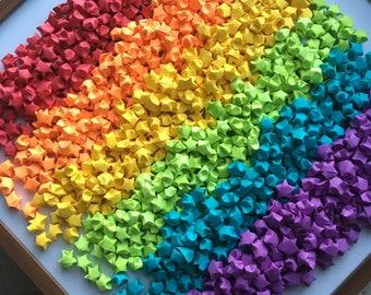 1000 Origami Stars - Rainbow Color