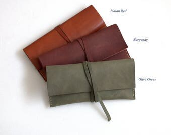 Glasses pouch Vegetable tanned leather new collection Winter 2018