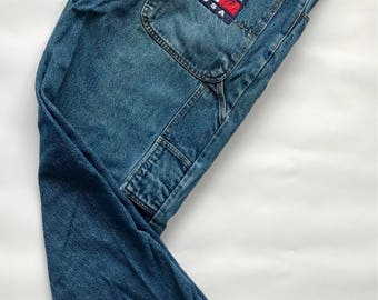 Vintage 1990s Tommy Hilfiger Flag Boot Cut Jeans Men's Size 36