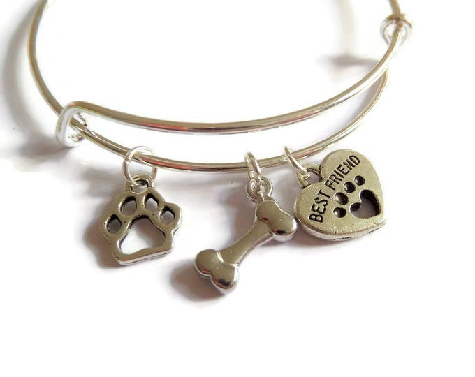 dog lover gift, love dogs gift, pets gift, best friend gift, dogs jewellery, dog jewelery, pet bangle, animals gift, birthday present