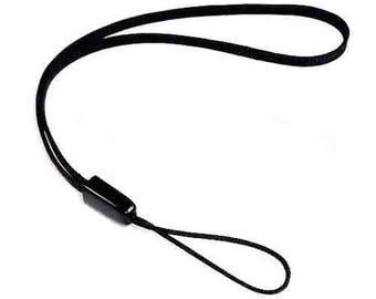 2 x Hand Wrist Strap Lanyard For MP3 MP4 Camera Mobile Phone USB Black 14 cm