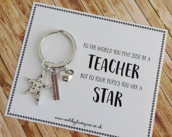 Special Teacher thank you gift - you're a star!