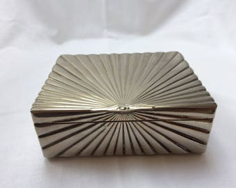 Art Deco metal trinket box 10cm x 8.5cm height 4cm