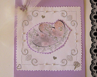 Double card supplied with envelope