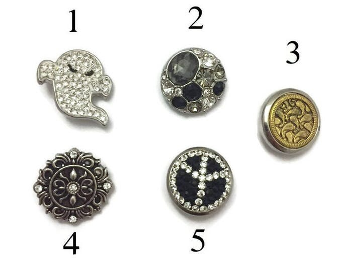 Snap Buttons, Snap Charms, Interchangeable Snaps for Standard Snap Jewelry, Will Fit All Popular Snap Necklaces, Snap Bracelet, Snap Earring