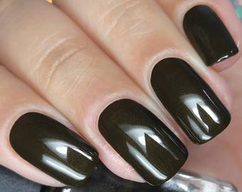 Dark Brown Nail Polish Take A BauHaus Gothic Family Jewels Bath And Body Gift Under 10 Gift For Her Pepper Pot Polish