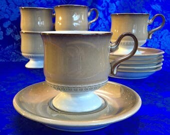 2 of 6 Denby Seville Stoneware Cups and Saucer Sets England mint