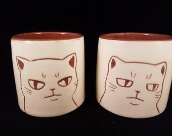 Two Grumpy Cat Tumblers
