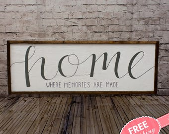 Home Sign Rustic Wood Mantle Decor Wall Living Room Art
