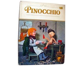 Pinocchio Vintage Puppet Book Illustrated by Tadasu Izawa and Shigemi Hijikata - 1971 Grosset Book - Illustrated Childrens Book