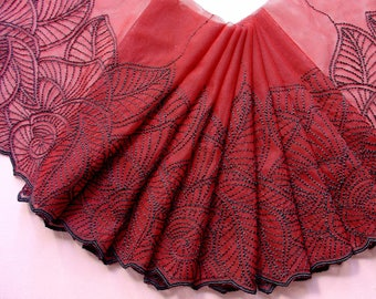 LACE TULLE EMBROIDERED DOUBLE SIDED