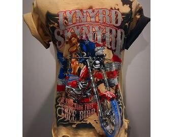 Custom Vintage Distressed Lynyrd Skynyrd Tshirt