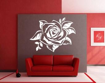Rose, Floral Sticker, Flowers, Interior Sticker, Window Sticker, Wall Decal, Wall Decor, Wall Sticker, Nature