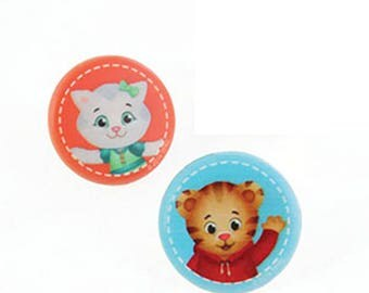 24 Daniel Tiger & Katerina Kittycat Cupcake Topper Rings