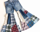 1 pair patchwork jeans