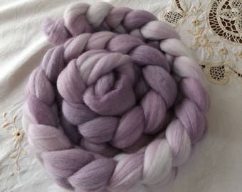 Merino roving hand dyed 20 micron 103 gms Colour 4 Mauves
