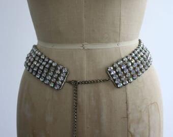 Vintage 1960s Diamante Belt