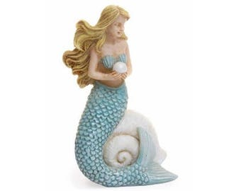 Fairy Garden  - Blue Mermaid - Miniature
