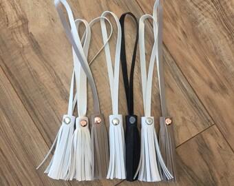 Vegan Leather Tassels / Leather Tassel / Faux Leather Tassel / Vegan Leather / Tassel / Purse Tassel / Removable Tassel / Tassel Vegan Bag