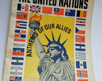 Song of the United Nations Anthems of our Allies 1942 WO2 sheet music