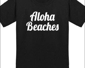 Aloha Beaches Tshirt Hawaii T-Shirt Men  Youth Shirts