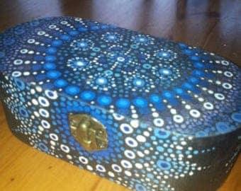 Mandala dotwork handpainted box