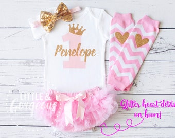 First Birthday Outfit Girl, 1st Birthday Outfit, First Birthday Onesie, Personalized First Birthday Outfit, 2nd Birthday