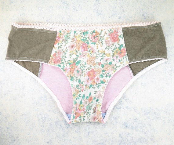 MEDIUM - LOLA WideHipster cut, unique, upcycle and handmade panties