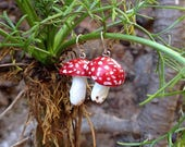 Amanita Muscaria earrings / handmade, sterling silver