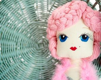 Bombshell: Handmade Cloth Doll by Manolitas