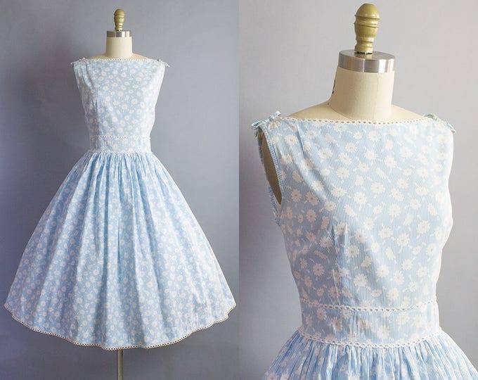 1950s Floral Sundress/ Medium (36b/28w)