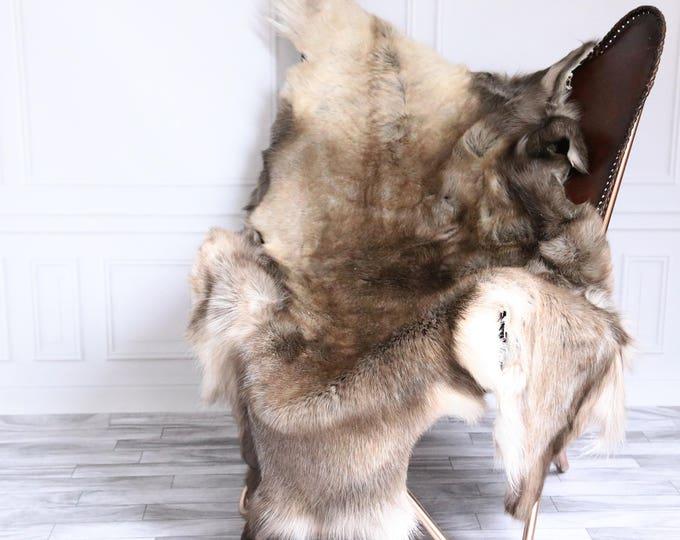 Reindeer Hide | Reindeer Rug | Reindeer Skin | Throw XXXL EXTRA Large - Scandinavian Style #15RE38