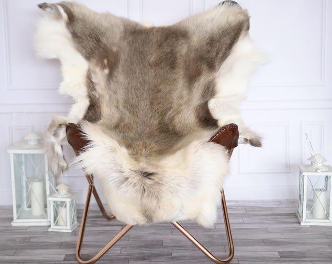 Reindeer Hide | Reindeer Rug | Reindeer Skin | L Large Throw Large - Scandinavian Style #19RE18
