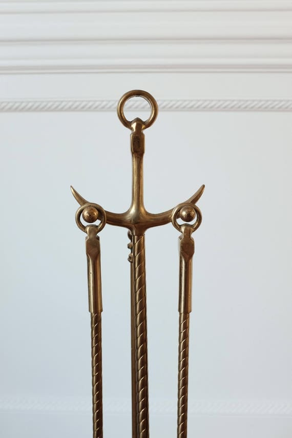 Nautical Brass Fireplace tools