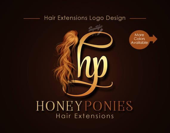 Hair Extensions Logo, Initials Logo, Virgin Hair Logo Design, Hair Collection Logo, Hair Strands Logo, Hair Bundle Logo, Hair wigs logo