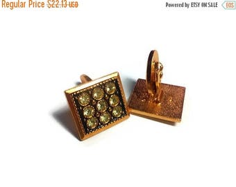 15% off anniversary gift for men gift brother from sister vintage cuff links square cufflink gold toned gift for father gifts for boyfriend