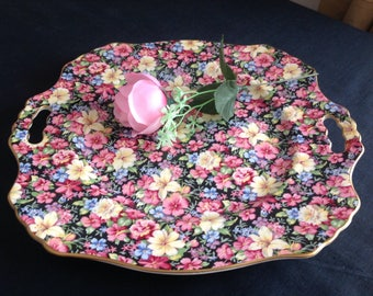 Charming Royal Winton chintz cake plate.  Florence.  Lovely condition .
