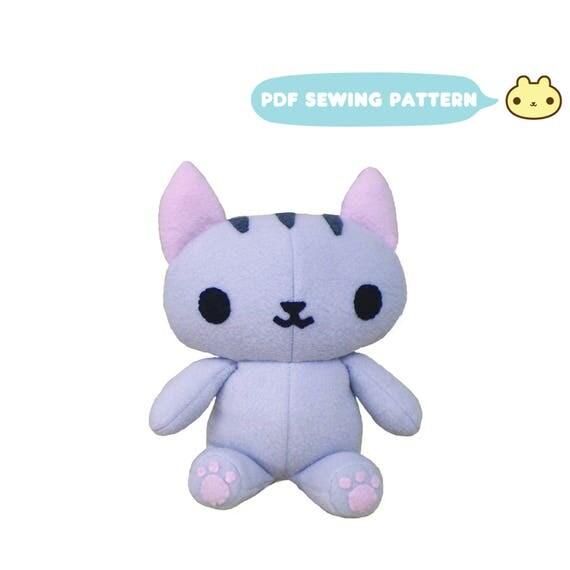 Fabric cat toy pattern