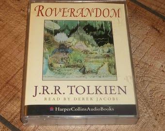 ROVERANDOM J.R.R. Tolkien Audiobook 2 Cassette Set Abridged, Derek Jacobi, The Hobbit, Lord of The Rings,