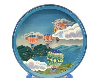 "Vintage ""Otagiri"" Japanese Hot Air Balloon Clock - FREE SHIPPING"