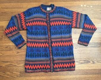 Alpaca Connection Peru Sweater Handmade Peruvian Vintage