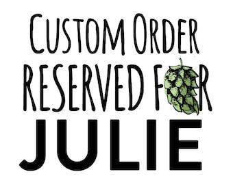 Custom Listing for Julie, 12 Bottle Cap Magnets with Custom Design