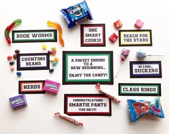 Graduation Candy Bar - Graduation Candy Signs, set of 9 - Candy Bar Sign - Graduation Party - Graduation Favors - Candy Buffet Sign - Favor