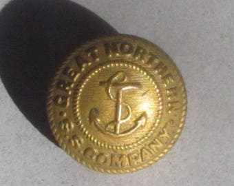 Scarce Great Northern Steamship Uniform Button