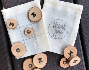 Tic tac toe party favors - wedding favors - reception favors - guest favors - quiet game