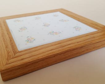 Oak and Ceramic tile Trivet