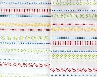 Punctuation Writing Tablet in Cream by American Jane for Moda Fabrics Fat Quarter OOP HTF