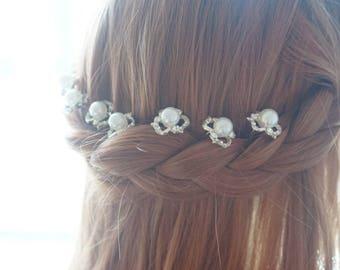 SALE-Bridal hair pins, wedding hair pins, pearl hair pin, wedding hair, wedding hair accessories, bridal hair jewelry, wedding hair piece