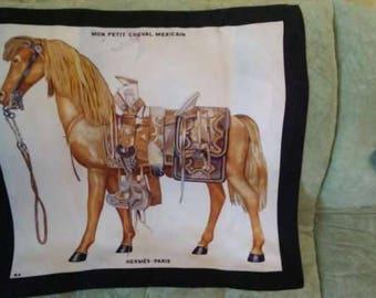 Hermes Mon Petit Cheval Mexicain silk scarf