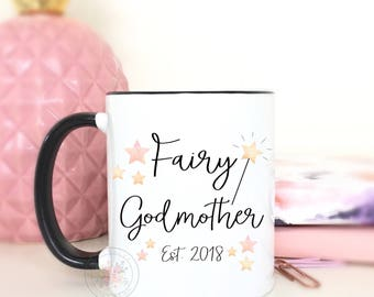 Fairy Godmother.Godmother Gift.God Mom Gift.Promoted To Godmother.Godparent Gift.Godmother Coffee Mug.Coffee Mug.coffee cup